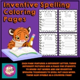Inventive Spelling Coloring Pages A to Z
