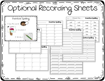 Inventive Spelling Digital Task Cards - Paperless Resources
