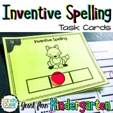 Inventive Spelling Task Cards for Kindergarten with Anchor