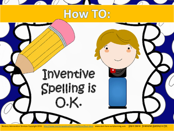 Inventive Spelling is OK!  Classroom Posters