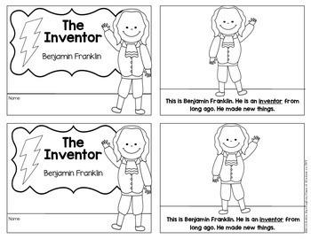 Inventor: Benjamin Franklin Mini Informational Reader First Grade & Kindergarten