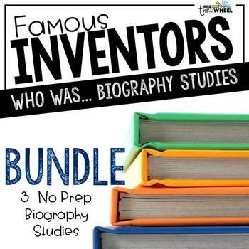 Who was...Inventor Bundle: Franklin, Bell, &  da Vinci Biography Studies