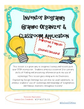Inventor Biography Graphic Organizer & PowerPoint Template