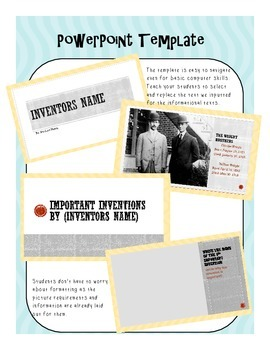 inventor biography graphic organizer powerpoint template by