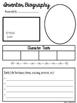 Inventor Biography Research Project