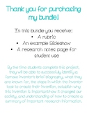 Inventor Google Slides/PowerPoint Research Project BUNDLE