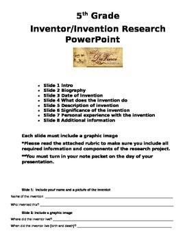 Inventor Invention Reserach PowerPoint