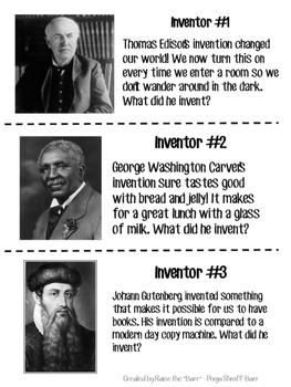 Inventor/Invention Scavenger Hunt