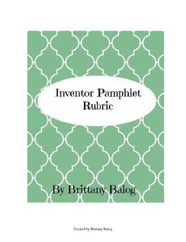 Inventor Pamphlet Rubric