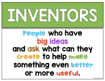 Inventor Posters (Ben Franklin, George Washington Carver and Thomas Edison}