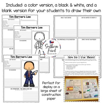 Famous Inventors & Inventions Research Project Posters BUNDLE