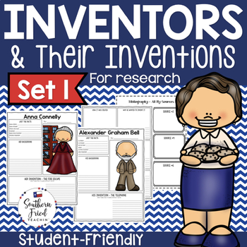 Famous Inventors & Inventions Research Project Posters - Set One