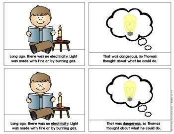 Inventor: Thomas Edison Mini {Informational} Reader First Grade & Kindergarten