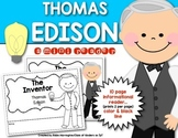 Inventor: Thomas Edison Mini {Informational} Reader First Grade & Kindergarten
