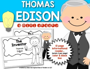 Inventor: Thomas Edison Mini {Informational} Reader First