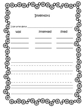 Inventor Tree Map and Writing