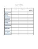 Inventor Worksheet