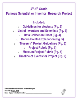 Inventor/Scientist Research Project