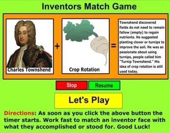 Inventors 1 Match Game - Bill Burton