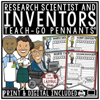 Inventors Research Templates and Scientist Research Project Pennants
