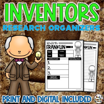 Inventors Biography Report & Informational Writing: Google Classroom