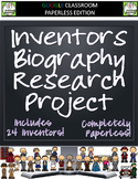 Inventors Biography Research Project for Google Classroom - Distance Learning