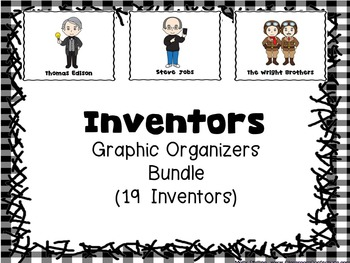Inventors Bundle (Posters and Graphic Organizers for 19 In