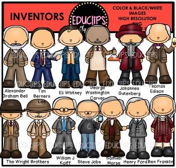 Inventors Clip Art Bundle {Educlips Clipart}