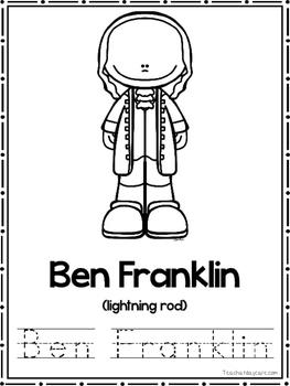 Inventors Coloring Book worksheets.  Preschool-2nd Grade