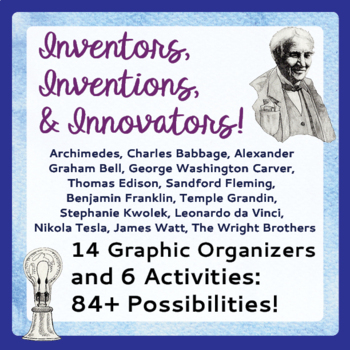 Inventors and Inventions Research Activities Graphic Organizers