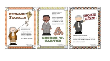 Inventors Interactive Workbooks: Ben Franklin, George W Carver, Thomas Edison
