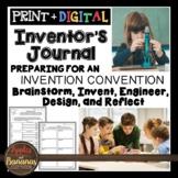 Inventor's Journal: Brainstorm, Invent, Engineer, Design,