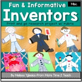 Inventors Research Project {Directions, Pictures, and Rubric Included}