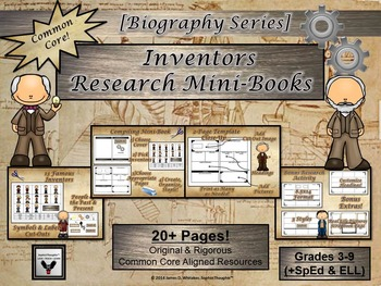 Inventors Research Mini-Book Activity Common Core