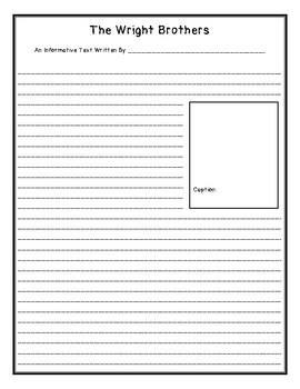 Inventors - The Wright Brothers Final Draft Lined Paper