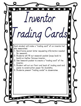 Inventor's Trading Cards Project