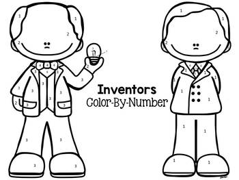 Inventors and Industrialists: Color-By-Number