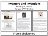 Inventors and Inventions - A Common Core Aligned Full Day For Your Sub