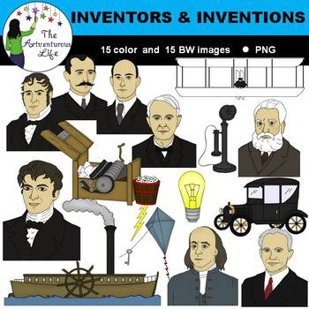 Inventors and Inventions Clip Art