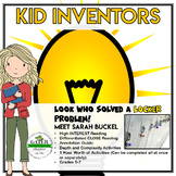 Inventors and Inventions | Kid Inventor Sarah | Reading Passage and Worksheets