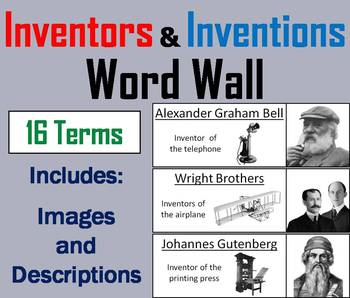 Inventors and Inventions Word Wall Cards