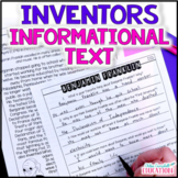 Inventors: Informational Articles and Questions   At Home Learning