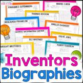 Famous Inventors Biographies   Science Reading Comprehension Passages, Questions