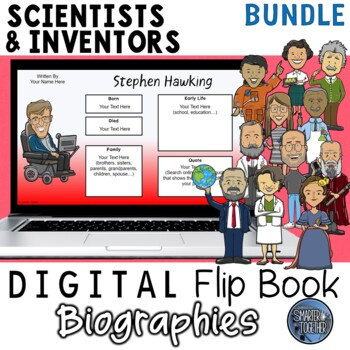 Inventors and Scientists Digital Biography Template Bundle