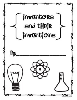 Inventors and Inventions Unit: Student Research Book and More