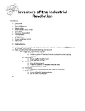 Inventors of the Industrial Revolution Project Instructions