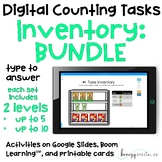 Inventory BUNDLE - Digital Counting Practice for Special E
