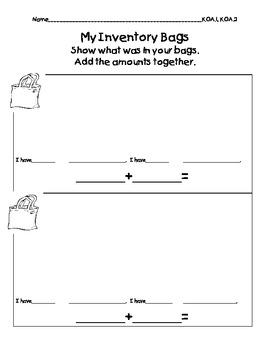 Inventory Bags (Investigations) K.CC.4a, b, K.CC.5, K.CC.6, K.OA.1, K.OA.2