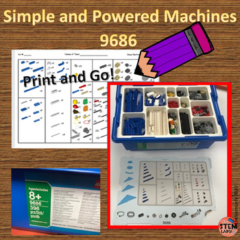 Inventory Sheet for Simple and Powered Machines 9686 by LEGO