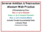 Inverse Addition & Subtraction Museum Walk